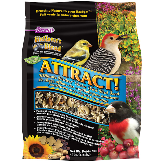 FM Browns Bird Lover's Blend Attract Ultimate Birder's Choice Dry Food, 4 lbs. - Carousel image #1