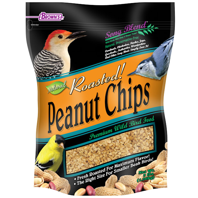 FM Browns Song Blend Roasted Peanut Chips Wild Bird Food, 3 lbs. - Carousel image #1