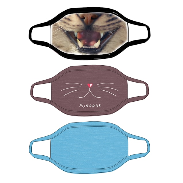 G&G Outfitters Cat Graphics Cloth Face Mask, Pack of 3 - Carousel image #1