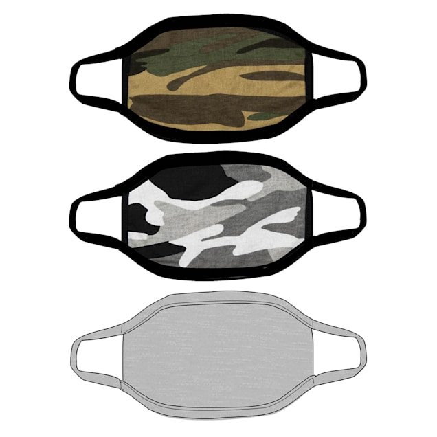 G&G Outfitters Camo Graphics Cloth Face Mask, Pack of 3 - Carousel image #1
