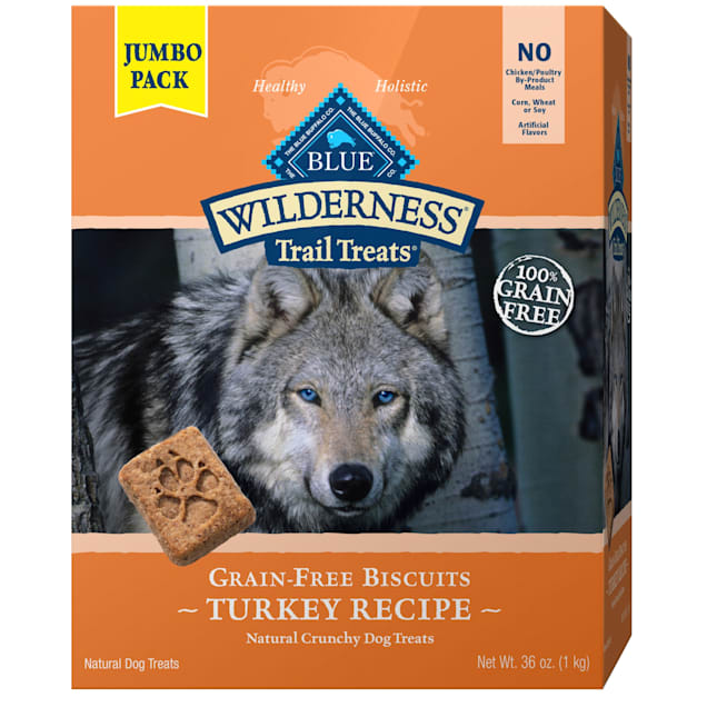 Blue Buffalo Blue Wilderness Trail Treats Grain Free Biscuits Turkey Recipe for Dogs, 36 oz. - Carousel image #1