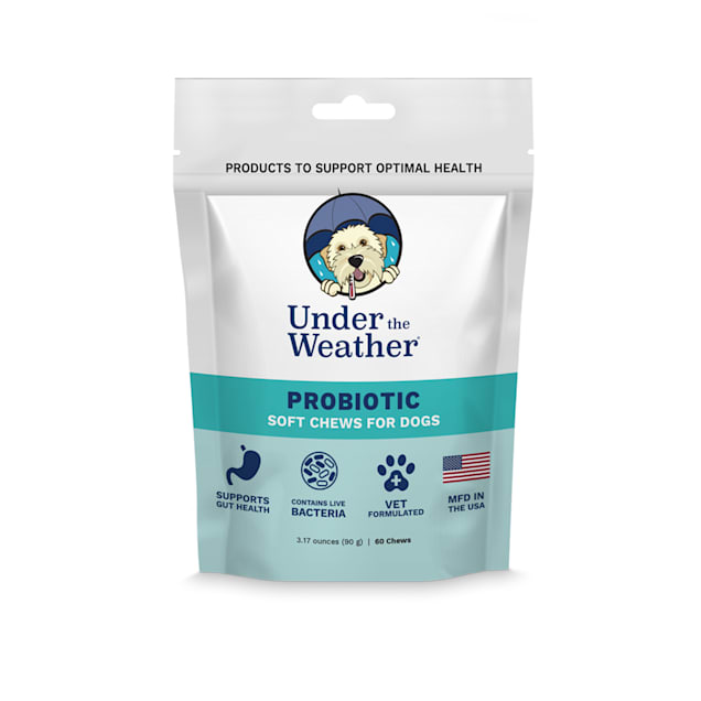 Under the Weather Probiotic Soft Chews for Dogs, Count of 60 - Carousel image #1