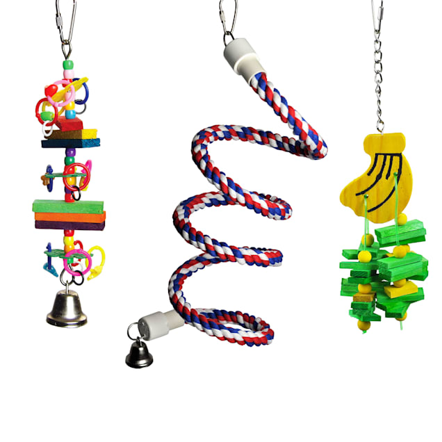 A&E Cage Company Happy Beaks Toy Bundle for Small Birds, Small - Carousel image #1