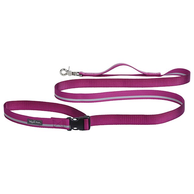 """West Paw Strolls Tether Leash with Traffic Handle in Reflective Fuschia for Dogs, Small, 72"""" L - Carousel image #1"""