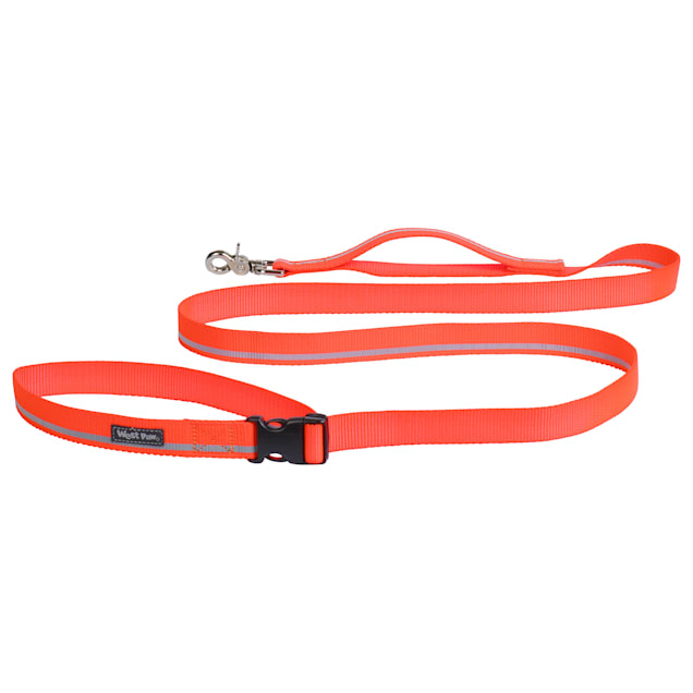 """West Paw Strolls Tether Leash with Traffic Handle in Reflective Neon Orange for Dogs, Small, 72"""" L - Carousel image #1"""