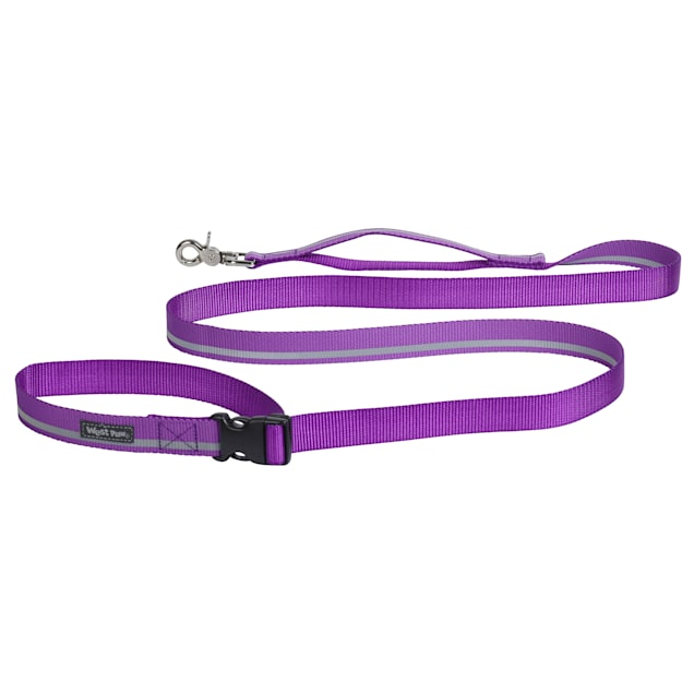 """West Paw Strolls Tether Leash with Traffic Handle in Reflective Dewberry for Dogs, Small, 72"""" L - Carousel image #1"""