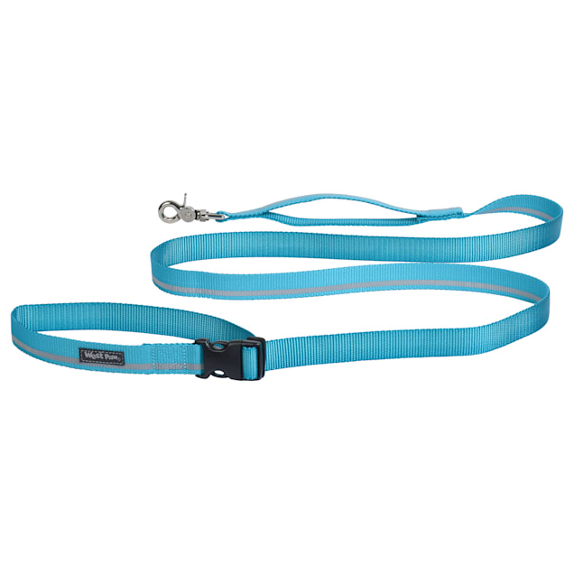 """West Paw Strolls Tether Leash with Traffic Handle in Reflective Turquoise for Dogs, Small, 72"""" L - Carousel image #1"""