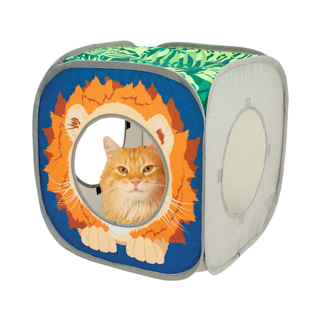 "Kitty City Open Safari Kitty Cube, 15"" H - Carousel image #1"