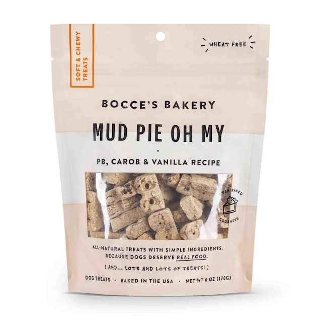 Bocce's Bakery Mud Pie Oh My Soft & Chewy Dog Treats, 6 oz. - Carousel image #1