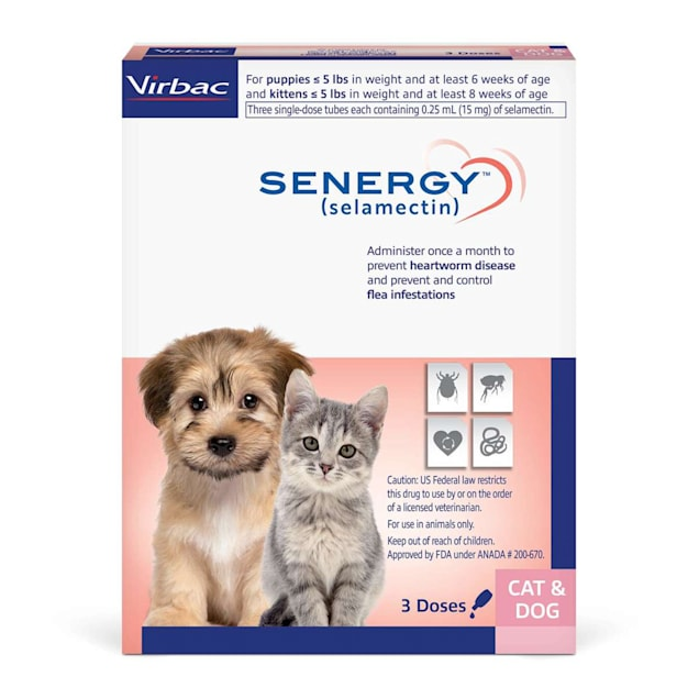 SENERGY TOPICAL 0-5 lbs. for Dogs and Cats, 3 Month Supply - Carousel image #1