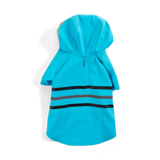 YOULY The Nature Lover Teal Dog Raincoat, X-Small - Carousel image #1