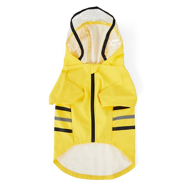 YOULY The Nature Lover Yellow Dog Raincoat, X-Small - Carousel image #1