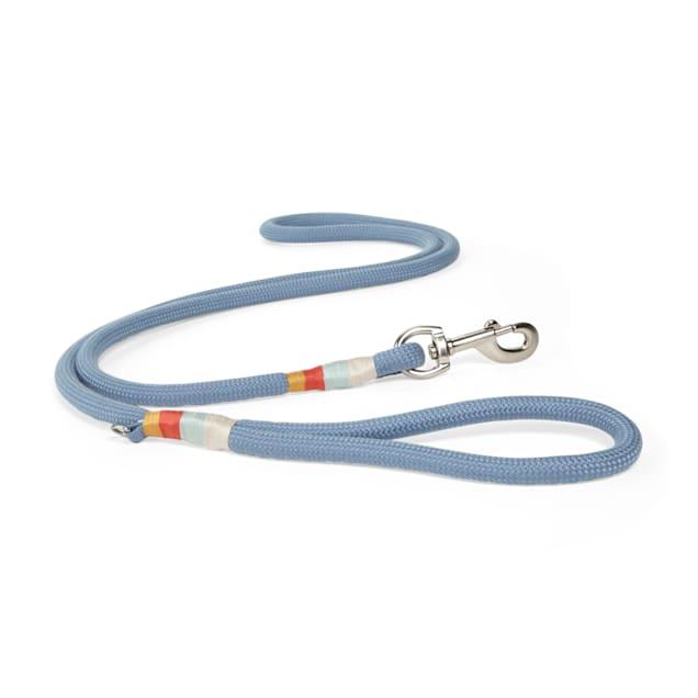 YOULY The Wanderer Blue Rope Dog Leash, 6 ft. - Carousel image #1