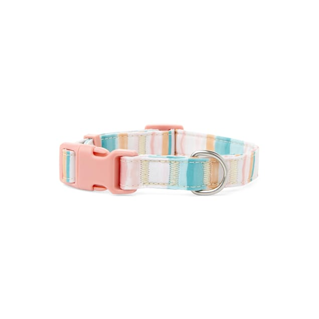 YOULY The Artist Striped Watercolor Dog Collar, Small - Carousel image #1