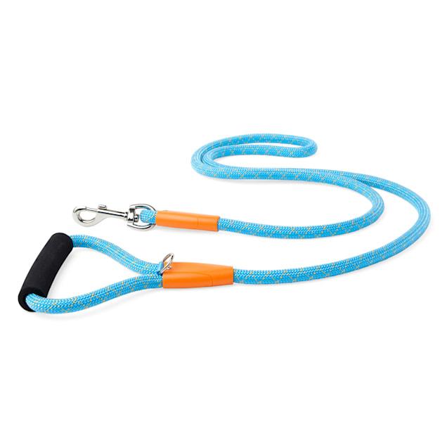 YOULY The Adventurer Teal & Orange Dog Leash, 6 ft. - Carousel image #1