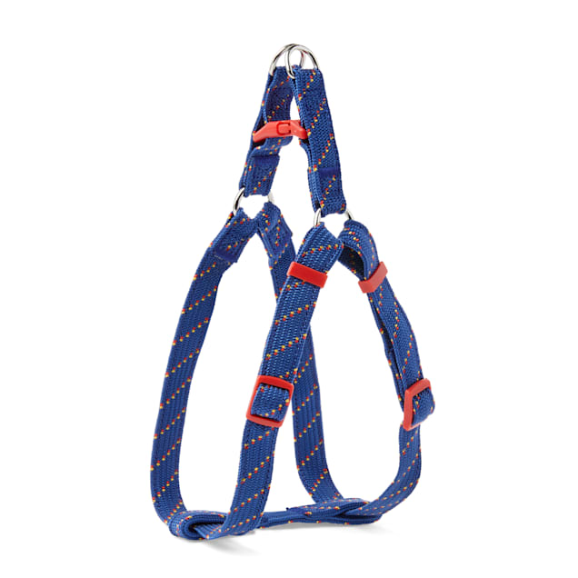 YOULY The Adventurer Navy & Red Dotted Webbed Nylon Dog Harness, Small - Carousel image #1