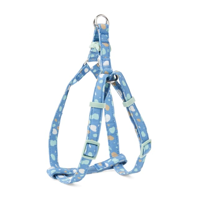YOULY The Artist Blue & Multicolor Paint Splatter Dog Harness, Small - Carousel image #1