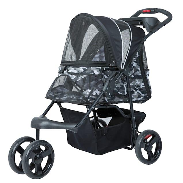 Petique Black Camo Pet Stroller - Carousel image #1