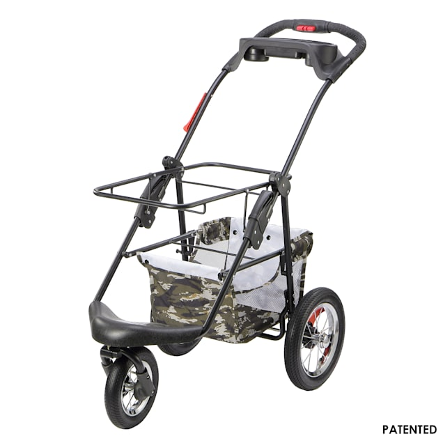 Petique Army Camo 5-in-1 Frame Pet Stroller - Carousel image #1