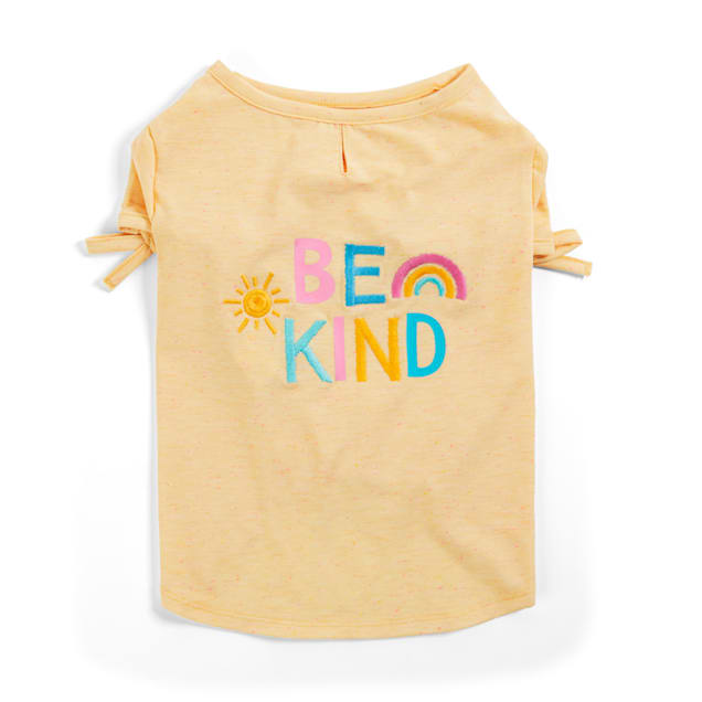 YOULY The Happy-Go-Lucky Yellow Be Kind Dog T-Shirt, X-Small - Carousel image #1
