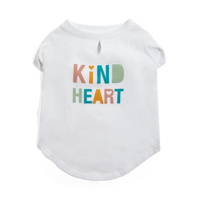 YOULY The Happy-Go-Lucky Kind Heart Dog T-Shirt, X-Small - Carousel image #1