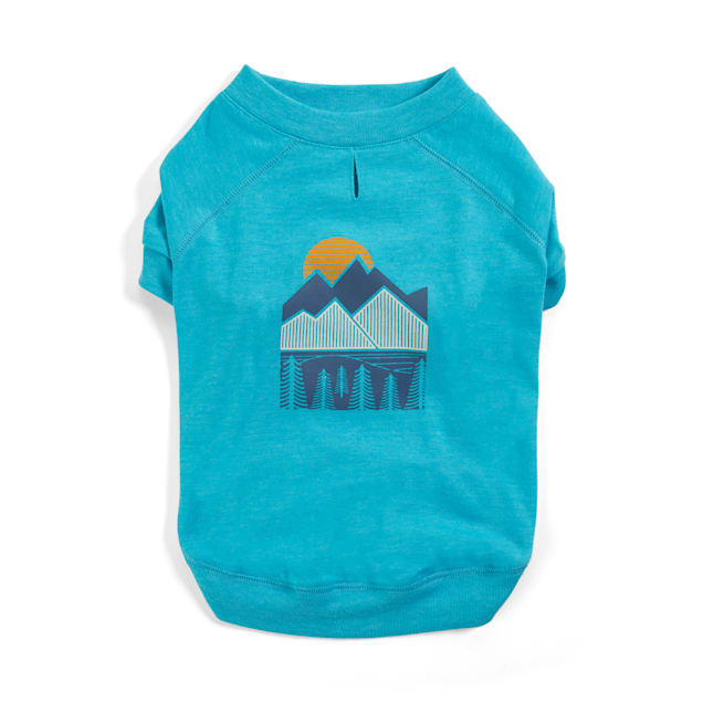 YOULY The Adventurer Blue Mountain-Print Dog T-Shirt, X-Small - Carousel image #1