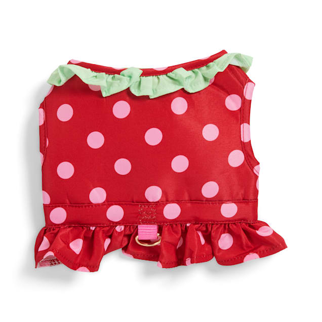 YOULY The Gourmet Strawberry-Print Red Dog Harness, X-Small - Carousel image #1