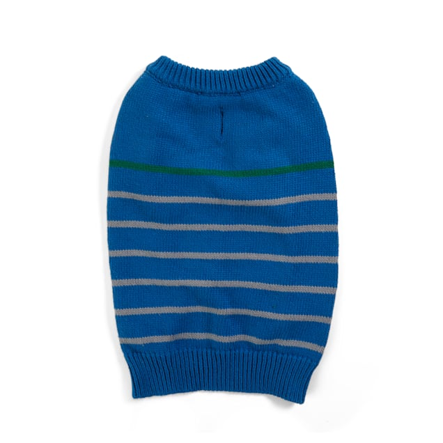 YOULY The Beatnik Navy Striped Dog Sweater, X-Small - Carousel image #1