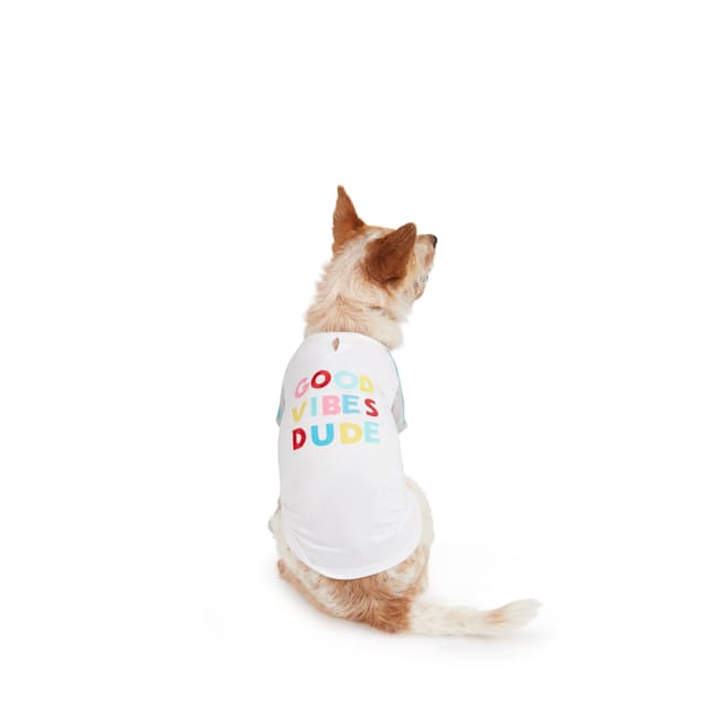 YOULY The Party Animal Good Vibes Dude Dog T-Shirt, X-Small - Carousel image #1