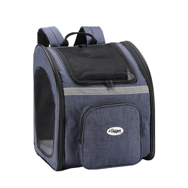 Petique The Backpacker Denim Pet Carrier, Medium - Carousel image #1