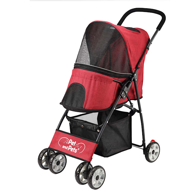 Easipet Pet Stroller Red with Cover