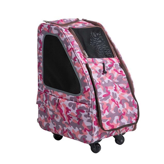 Petique Pink Camo 5-in-1 Pet Carrier, Medium - Carousel image #1