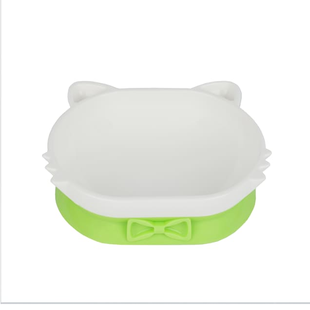 Petique Green Eco-Friendly PLA Pet Dish Bowl for Cats - Carousel image #1