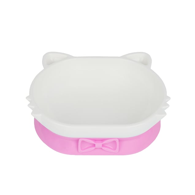 Petique Pink Eco-Friendly PLA Pet Dish Bowl for Cats - Carousel image #1