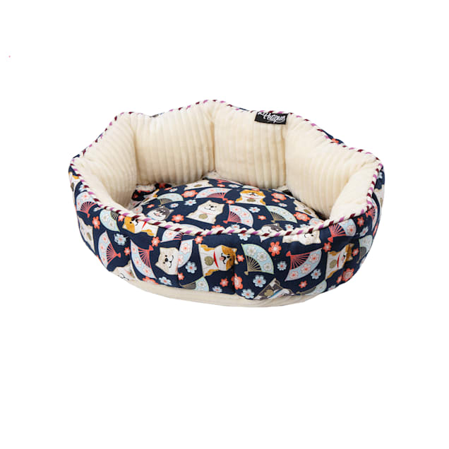 "Petique Shiba Inu Round Pet Bed, 15"" L X 10"" W - Carousel image #1"