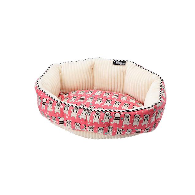 "Petique Sherruff Pug Round Pet Bed, 15"" L X 10"" W - Carousel image #1"