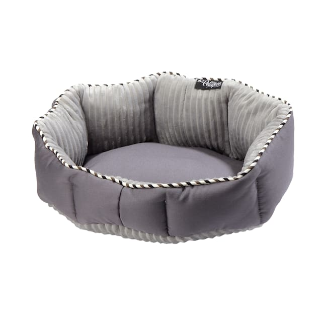 """Petique Solid Charcoal Round Pet Bed, 18"""" L X 13"""" W - Carousel image #1"""