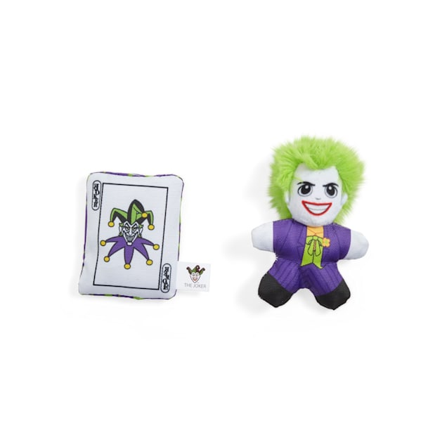 DC Comics The Joker Plush Dog Toys, X-Small, Pack of 2 - Carousel image #1