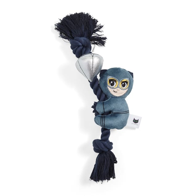 DC Comics Catwoman Plush & Rope Tug Dog Toy, Medium - Carousel image #1
