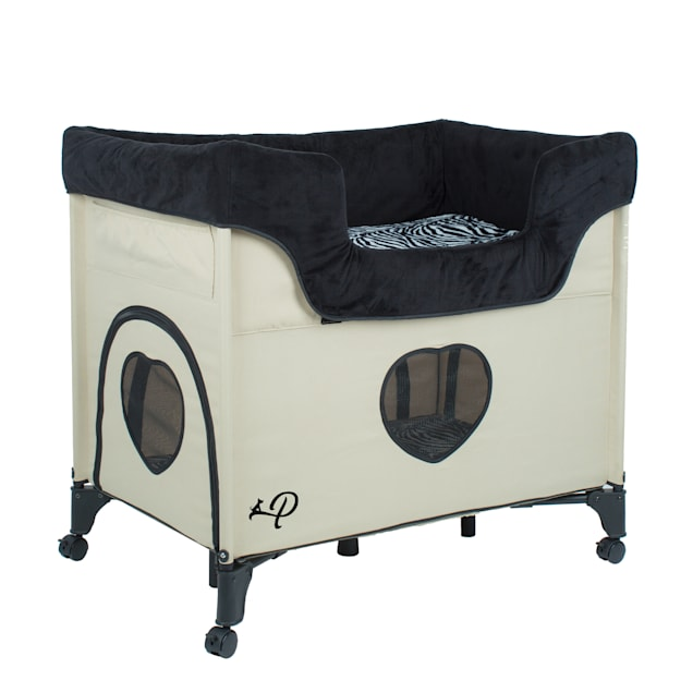 "Petique Bedside Lounge Zebra Vibes Pet Bed, 33.5"" L X 22.5"" W - Carousel image #1"