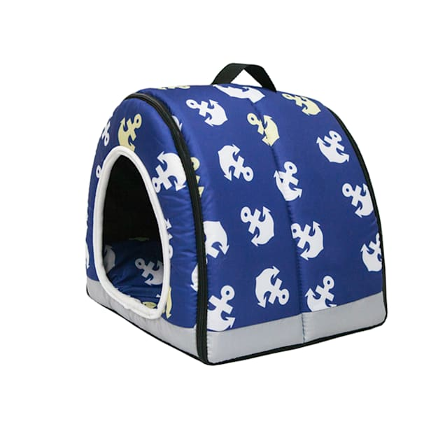 "Petique Anchor's Away One-Zip Pet House, 12"" L X 12"" W - Carousel image #1"