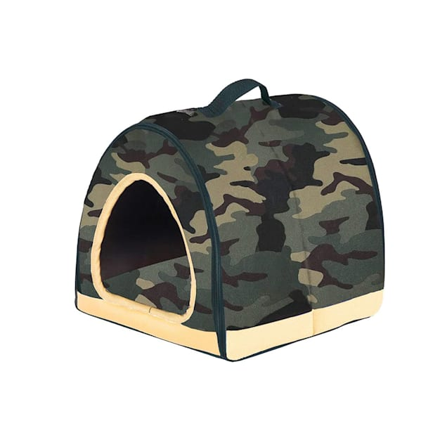 """Petique Army Green One-Zip Pet House, 12"""" L X 12"""" W - Carousel image #1"""