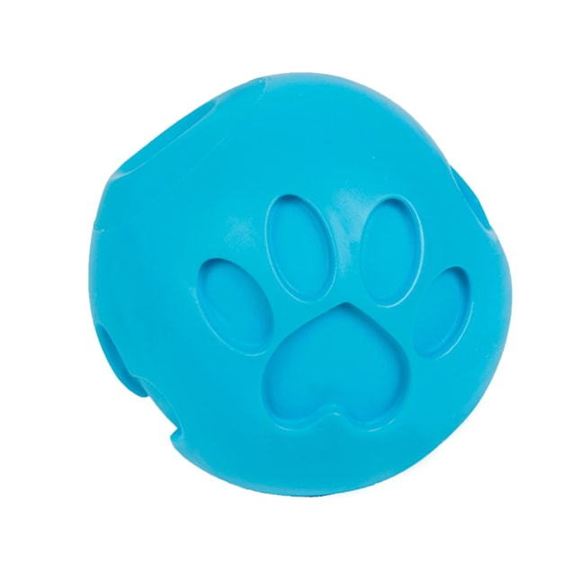 Petique Blue Paw Me! Treat Ball Dispenser for Pets, X-Small - Carousel image #1