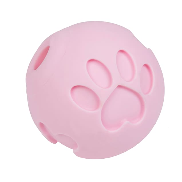 Petique Pink Paw Me! Treat Ball Dispenser for Pets, X-Small - Carousel image #1