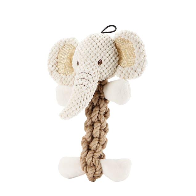 Petique Tough Hemp Elephant Dog Toy, Medium - Carousel image #1