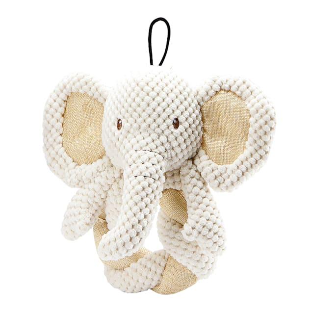 Petique Elephant Twist Dog Toy, Medium - Carousel image #1