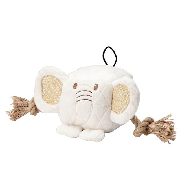 Petique Cute Chunky Elephant Dog Toy, Large - Carousel image #1