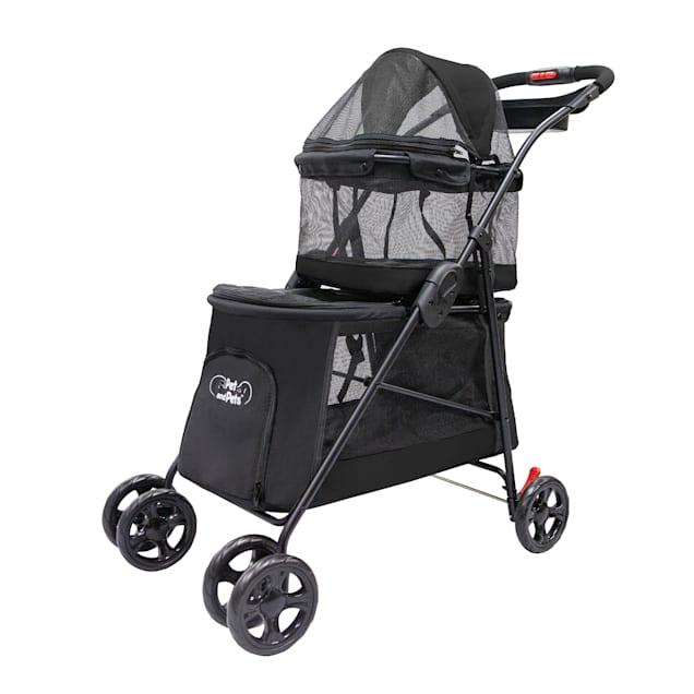 Pet and Pets Black Double Decker Pet Stroller - Carousel image #1
