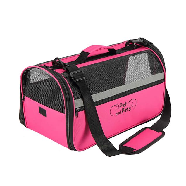 Petique Pink Duffle Pet Carrier, Medium - Carousel image #1
