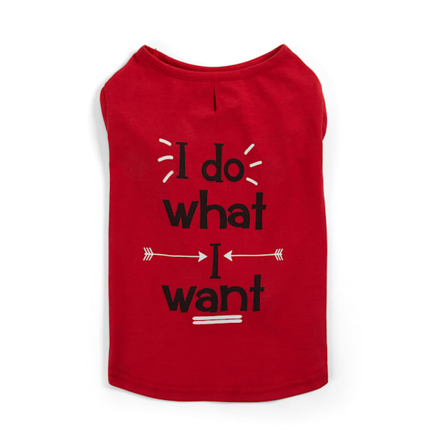 YOULY The Maverick Red I Do What I Want Dog T-Shirt, XX-Small - Carousel image #1
